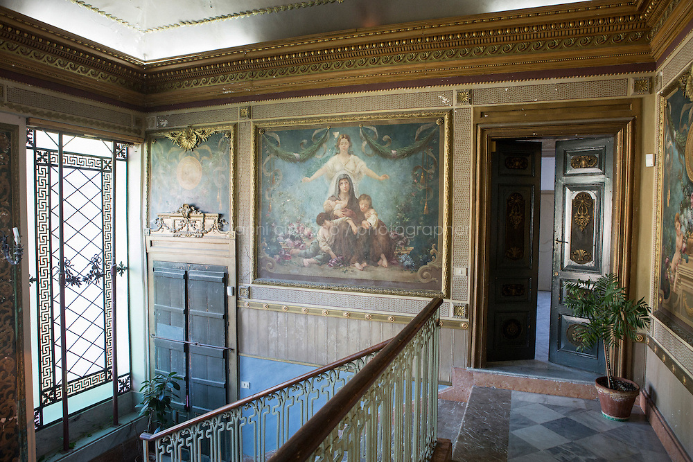 """SCICLI, ITALY - 23 OCTOBER 2014: Interior of Palazzo Spadaro, where scenes of the TV series """"Il Commissario Montalbano"""" have been shot, in Scicli, Italy, on October 23rd 2014."""