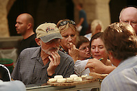 "The Saturday market in Uzès, Languedoc, France..Trying ""pelardon"" goat cheese..October 6, 2007..Photo by Owen Franken for the NY Times...Assignment ID: 30049869AThe Saturday market in Uzes, Languedoc, France..""Pelardon,"" small goat cheeses..October 6, 2007..Photo by Owen Franken for the NY Times...Assignment ID: 30049869A"