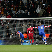 Croatia's Ivica OLIC (C) goal during their UEFA EURO 2012 Play-off for Final Tournament First leg soccer match Turkey betwen Croatia at TT Arena in Istanbul Nüovember11, 2011. Photo by TURKPIX