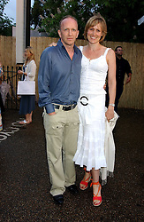 SIMON & SANTA SEBAG-MONTEFIORE at the annual Serpentine Gallery Summer Party co-hosted by Jimmy Choo shoes held at the Serpentine Gallery, Kensington Gardens, London on 30th June 2005.<br />