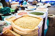 Lentils for sale in Chaudi Market, Goa, India