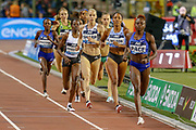 Ajee Wilson (USA), Lynsey Sharp (Great Britain), Women's 800m during the IAAF Diamond League event at the King Baudouin Stadium, Brussels, Belgium on 6 September 2019.