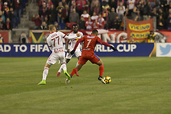March 1, 2018 - Harrison, New Jersey, United States - Carlos Mejia (7) of CD Olimpia of Honduras controls ball during 2018 CONCACAF Champions League round of 16 game against New York Red Bulls at Red Bull arena, Red Bulls won 2 - 0  (Credit Image: © Lev Radin/Pacific Press via ZUMA Wire)
