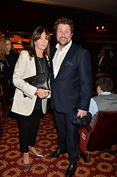 MICHAEL BALL and CATHY McGOWAN at a gala performance of 'Once The Musical' in aid of Oxfam held at the Phoenix Theatre, 110 Charing Cross Road, London on 17th March 2014.