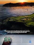American Express, Pebble Beach Golf Course, Carmel California, few more sunsets