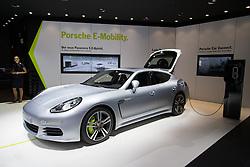 10.09.2013, Messegelaende, Frankfurt, GER, IAA 2013, im Bild Porsche Panamera S E-Hybrid // during the IAA 2013 at the Messegelaende in Frankfurt, Germany on 2013/09/10. EXPA Pictures © 2013, PhotoCredit: EXPA/ Eibner/ Alexander Neis<br /> <br /> ***** ATTENTION - OUT OF GER *****