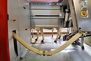 Nederland, Groesbeek, 10-6-2019 Koeien staan in de stal bij een melkveebedrijf. Ze kunnen zelfstandig gemolken worden in de moderne, computergestuurde melkrobot. Vandaag is er een open dag georganiseerd door melkproducent Friesland-Campina. Foto: Flip Franssen