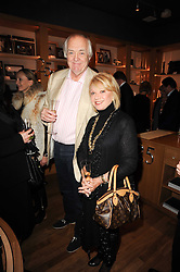 SIR TIM RICE and ELAINE PAIGE at a party to celebrate 25 years of the David Linley store , 60 Pimlico Road, London on 16th November 2010.