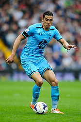 Nacer Chadli (BEL) of Tottenham Hotspur in action - Photo mandatory by-line: Rogan Thomson/JMP - 07966 386802 - 12/04/2014 - SPORT - FOOTBALL - The Hawthorns Stadium - West Bromwich Albion v Tottenham Hotspur - Barclays Premier League.
