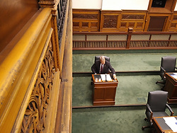 May 29, 2017 - Toronto, ON, Canada - TORONTO, ON - MAY 29: Trillium Party MPP Jack MacLaren (Carleton-Mississippi Mills) takes his seat in the Ontario Legislature on Monday after parting ways with the Progressive Conservatives over the weekend. (Credit Image: © Robert Benzie/The Toronto Star via ZUMA Wire)