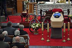 April 24, 2018 - Heist-Op-Den-Berg, FRANCE - Illustration picture shows the funeral ceremony for cyclist Michael Goolaerts, Tuesday 24 April 2018 in Hallaar, Heist-Op-Den-Berg. Michael Goolaerts died after a crash in the Paris-Roubaix race on Sunday 8 April 2018, he was 23 years old...BELGA PHOTO DIRK WAEM (Credit Image: © Dirk Waem/Belga via ZUMA Press)