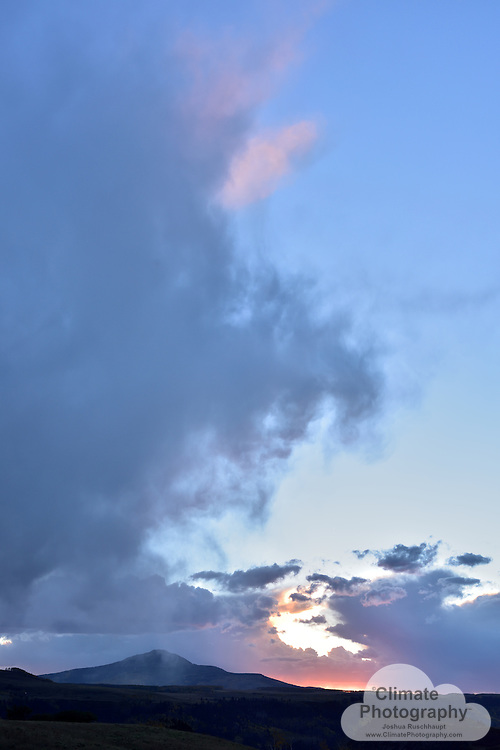 Little Cone Peak, near Telluride, Colorado, at sunset.