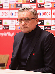 November 13, 2017 - Gdansk, Poland - Polish coach Adam Nawalka after the international friendly soccer match between Poland and Mexico at the Energa Stadium in Gdansk, Poland on 13 November 2017  (Credit Image: © Mateusz Wlodarczyk/NurPhoto via ZUMA Press)
