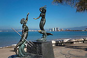 ?Triton and the Nereid? by Carlos Espino, 1990, The Malecon, Puerto Vallarta, Jalisco, Mexico,