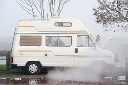 © under license to London News Pictures.  15/11/2010 A broken down camper van next to a river this morning (monday), surrounded in dense fog that covered a large part of the worcestershire countryside. Picture credit should read: David Hedges/London News Pictures