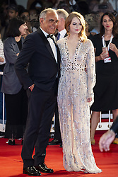 Emma Stone and Alberto Barbera walk the red carpet ahead of the The Favourite screening during the 75th Venice Film Festival at Sala Grande on August 30, 2018 in Venice, Italy. Photo by Marco Piovanotto/ABACAPRESS.COM