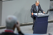 Secretary General of the United Nations, António Guterres, delivers a speech at the lower house of the German Parliament, the Bundestag in Berlin, Germany, December 18, 2020. Guterres was invited as an honorary guest on the occasion of  the founding of the United Nations 75 years ago. <br /> (Photo by Omer Messinger)