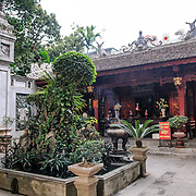 The courtyard at Tran Quoc Pagoda on a small island on West Lake (Ho Tay). Originally built in the 6th century on the banks of the Red River, a changing course of the river forced the pagoda to be relocated in 1615 to Golden Fish (Kim Ngu) islet on the lake.