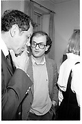 SALMAN RUSHDIE, RAYMOND CARVER BOOK PARTY. Notting Hill, London, 14 May 1985. <br /> <br /> SUPPLIED FOR ONE-TIME USE ONLY> DO NOT ARCHIVE. © Copyright Photograph by Dafydd Jones 248 Clapham Rd.  London SW90PZ Tel 020 7820 0771 www.dafjones.com