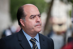 © Licensed to London News Pictures. 07/09/2017. London, UK. Head of Venezuela's National Assembly Julio Andrés Borges is seen outside Downing Street after talks with Europe and the Americas Minister Alan Duncan and Antonieta López, mother of Leopoldo López to discuss the political situation in Venezuela.  Leopoldo López, co-founder of the political party Primero Justicia with Julio Andrés Borges, is currently under house arrest in Venezuela.   Photo credit : Stephen Chung/LNP