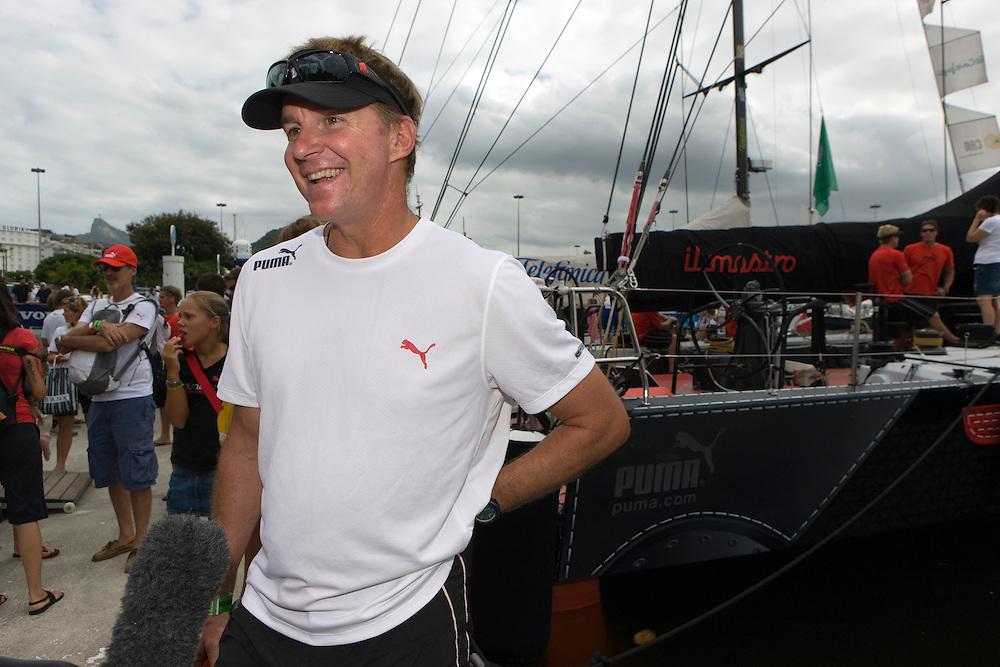 11APR09 Leg 6 Start , Rio de Janeiro. PUMA Ocean Racing on the dock before the start of Lg 6 from Rio to Boston, 4900 nautical miles.