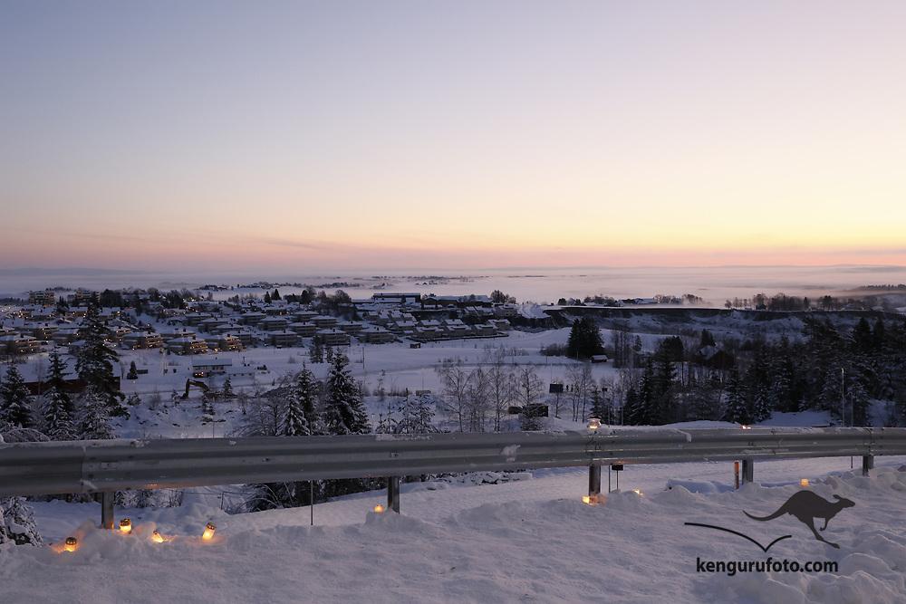 Ask 20210103. <br /> Rasstedet for jordras katastrofen i Ask i Gjerdrum i klarvær søndag morgen.<br /> Foto: Tor Erik Schrøder / NTB