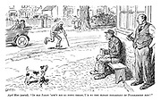"""Aged man (seated). """"If old Jarge 'adn't bin so nippy there, I'd be the oldest inhabitant of Puddlebury now!"""""""