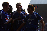 Photo: Olly Greenwood.<br />Crystal Palace v Cardiff City. Coca Cola Championship. 14/10/2006. Cardiff's Riccardo Scimeca celebrates scoring the winning goal