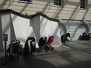 Buggy parking, Greenwich maritime museum, London, 17 April 2018