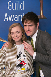 February 17, 2019 - Beverly Hills, California, U.S - Elsie Fisher and Bo Burnham in the red carpet of the 2019 Writers Guild Awards at the Beverly Hilton Hotel on Sunday February 17, 2019 in Beverly Hills, California. ARIANA RUIZ/PI (Credit Image: © Prensa Internacional via ZUMA Wire)