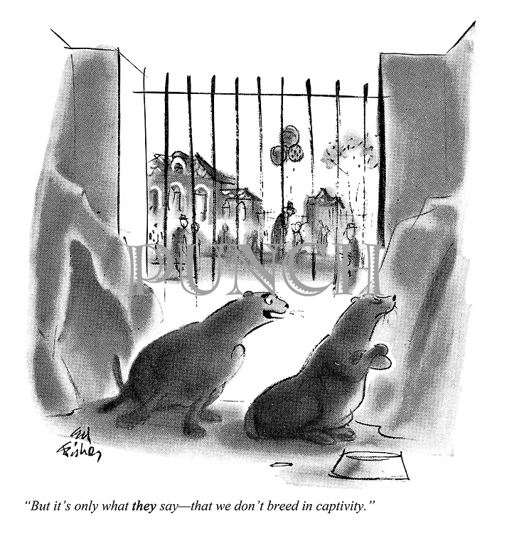 """But it's only what they say — that we don't breed in captivity."""
