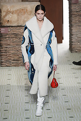 February 27, 2019 - Paris, France - Lanvin. - Model On Catwalk, Woman Women, Paris Fashion Week 2019 Ready To Wear For Fall Winter, PAP, Defile, Fashion Show Runway Collection, Pret A Porter, Modelwear, Modeschau Laufsteg Autumn Herbst France .Model, Catwalk, Runway, Fashion Show, Style, Trend, Look, Outfit, (Credit Image: © FashionPPS via ZUMA Wire)