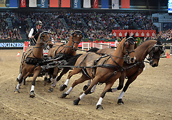 17.01.2016, Neue Messe, Leipzig, GER, FEI World Cup Driving, im Bild Sieger wird der Fahrer Boyd Exell (AUS) // during the FEI World Cup Driving at the Neue Messe in Leipzig, Germany on 2016/01/17. EXPA Pictures © 2016, PhotoCredit: EXPA/ Eibner-Pressefoto/ Modla<br /> <br /> *****ATTENTION - OUT of GER*****