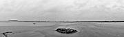 Nederland, Zuid-Holland, Oostvoorne, 09-02-2020; Slikken van Voorne nabij zonsondergang en tijdens storm Ciara. Zicht op Tweede Maasvlakte (MV2).<br /> Mudflats near sunset and during storm Ciara.<br /> <br /> Onderdeel Gigapanorama (montage).<br /> copyright © 2020 foto/photo Siebe Swart