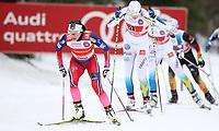 Langrenn<br /> FIS World Cup<br /> 18.01.2015<br /> Foto: Gepa/Digitalsport<br /> NORWAY ONLY<br /> <br /> OTEPÄÄ - ESTLAND<br /> <br /> FIS World Cup, team sprint, ladies. Image shows Maiken Caspersen Falla (NOR) and Ida Ingemarsdotter (SWE).