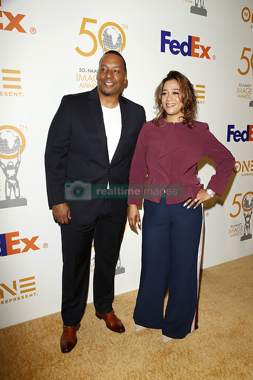March 9, 2019 - Los Angeles, CA, USA - LOS ANGELES - MAR 9:  Deon Taylor, Roxanne Taylor at the 50th NAACP Image Awards Nominees Luncheon at the Loews Hollywood Hotel on March 9, 2019 in Los Angeles, CA (Credit Image: © Kay Blake/ZUMA Wire)