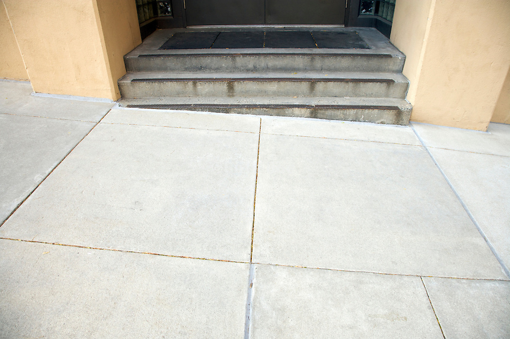 stairs at a slope