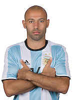 Football Conmebol_Concacaf - <br />Copa America Centenario Usa 2016 - <br />Argentina National Team - Group D -<br />Javier Mascherano