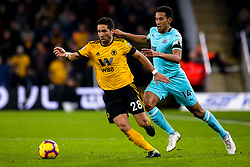 Joao Moutinho of Wolverhampton Wanderers takes on Isaac Hayden of Newcastle United - Mandatory by-line: Robbie Stephenson/JMP - 11/02/2019 - FOOTBALL - Molineux - Wolverhampton, England - Wolverhampton Wanderers v Newcastle United - Premier League