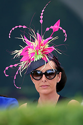 A female racegoer in the royal enclosure during day four of Royal Ascot at Ascot Racecourse.