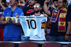 August 15, 2018 - Barcelona, Spain - Boca Juniors supporters during the match between FC Barcelona and C.A. Boca Juniors, corresponding to the Joan Gamper trophy, played at the Camp Nou, on 15th August, 2018, in Barcelona, Spain. (Credit Image: © Joan Valls/NurPhoto via ZUMA Press)