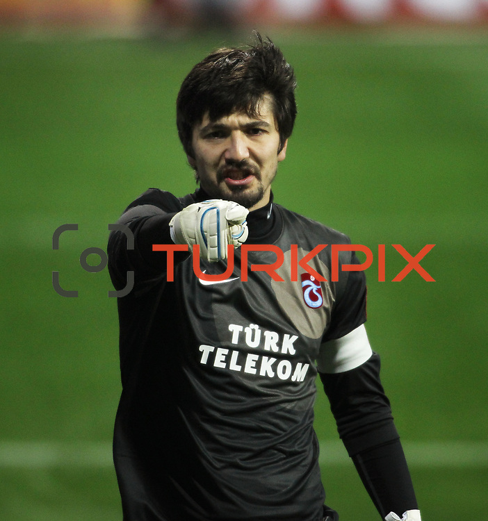 Trabzonspor's goalkeeper Tolga Zengin during their Tuttur.com Cup matchday 2 soccer match Trabzonspor between  Werder Bremen at Mardan stadium in AntalyaTurkey on 07 Monday January, 2013. Photo by Aykut AKICI/TURKPIX