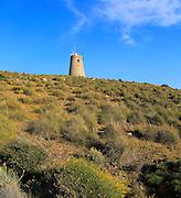 Torre Vigia de los Lobos watchtower, Rodalquilar, Cabo de Gata natural park, Almeria, Spain