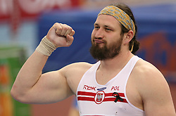 Winner and the European Champion Tomasz Majewski of Poland at Shot Put men at the 3rd day of  European Athletics Indoor Championships Torino 2009 (6th - 8th March), at Oval Lingotto Stadium,  Torino, Italy, on March 8, 2009. (Photo by Vid Ponikvar / Sportida)