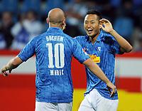 Fotball<br /> Tyskland<br /> 23.08.2010<br /> Foto: Witters/Digitalsport<br /> NORWAY ONLY<br /> <br /> Jubel 3:1 v.l. Milos Maric, Chong Tese (Bochum)<br /> <br /> 2. Bundesliga vfL Bochum - 1860 München