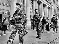 Paris during Covid 19 pandemic.  in the streets of 18TH area gare du Nord