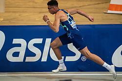 Onyema Adigida in action on the 200 meter during AA Drink Dutch Athletics Championship Indoor on 21 February 2021 in Apeldoorn.