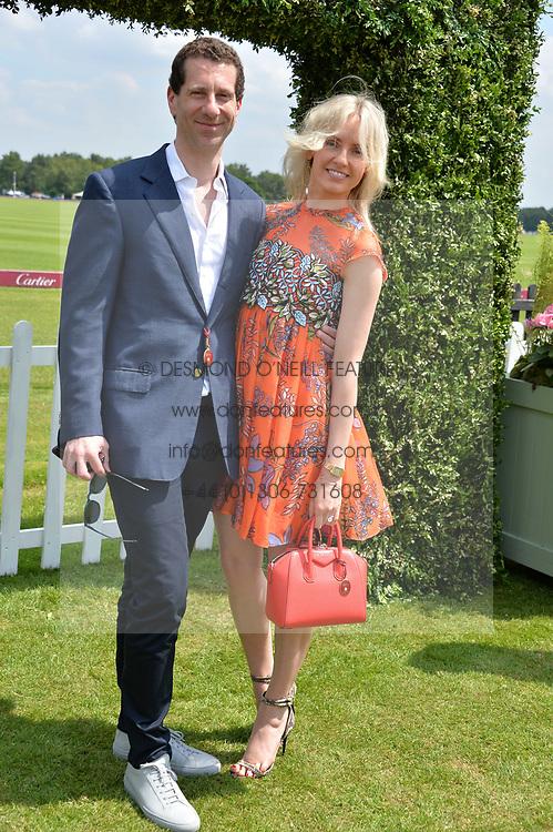 Marlon & Nadja Abela at Cartier Queen's Cup Polo, Guard's Polo Club, Berkshire, England. 18 June 2017.<br /> Photo by Dominic O'Neill/SilverHub 0203 174 1069 sales@silverhubmedia.com