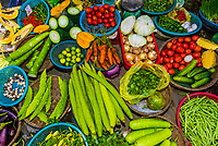 Vegetable market, Central Market, Hoi An, Vietnam.