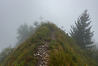 The Croix de Perillet sits atop a ridge south of La Belle Etoile in the French Alps.
